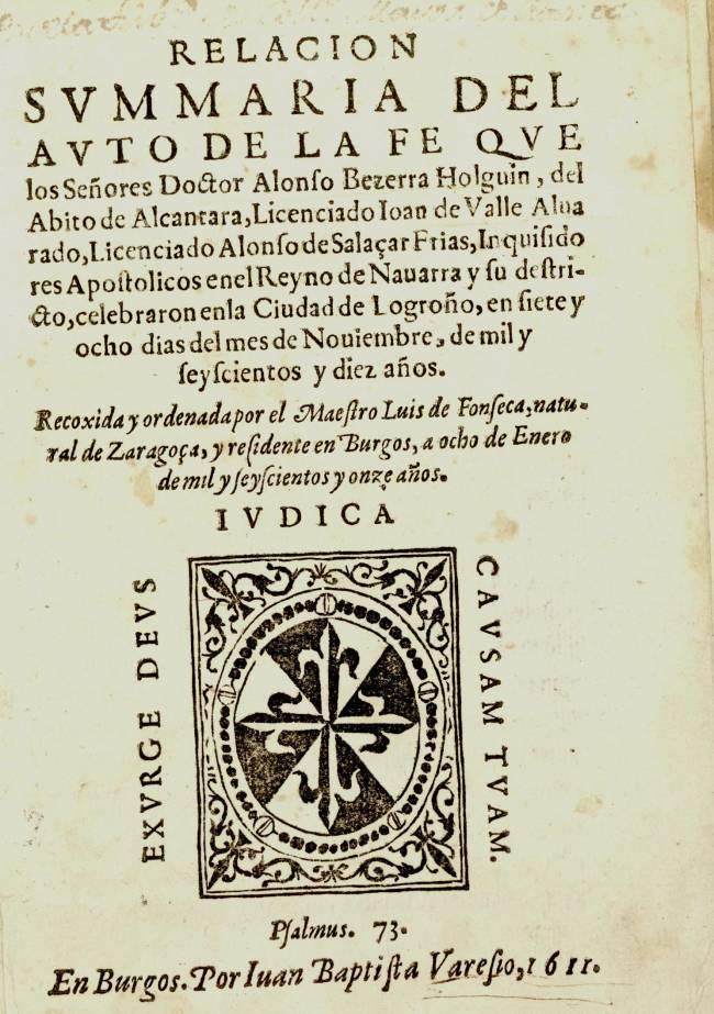 Imagen del libro impreso en Burgos en 1611