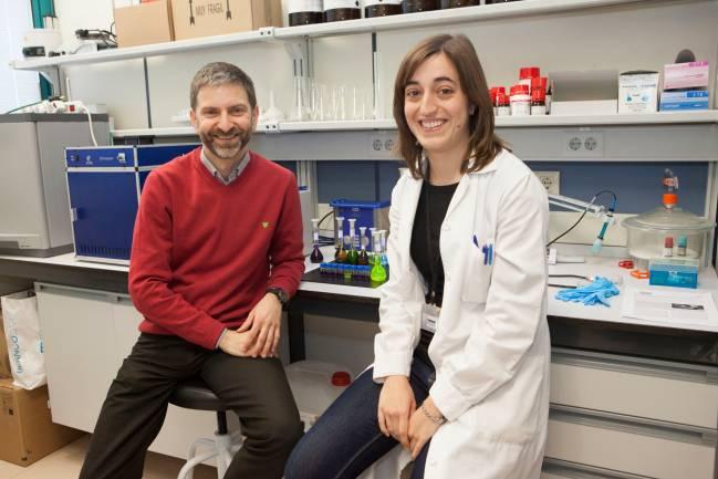 Los investigadores Francisco Galindo, coordinador del proyecto, y Alicia Beltrán de la Universitat Jaume I de Castelló.