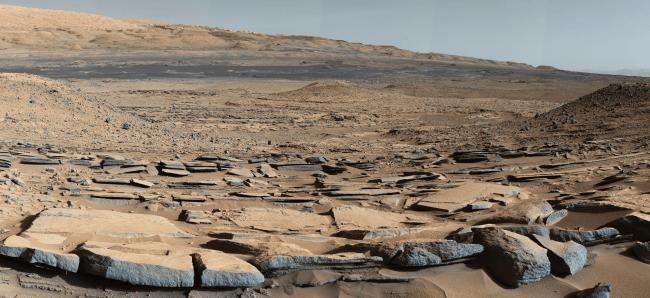 Imagen de la superficie marciana tomada por el robot Curiosity / NASA/JPL-Caltech/MSSS.