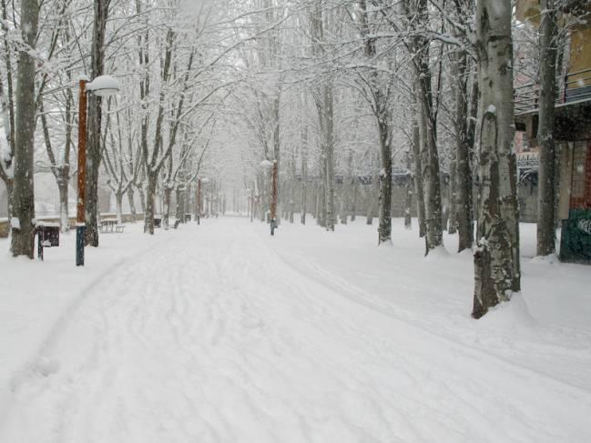 Aranda de Duero (Burgos), bajo la nieve. / Raúl Hernández González.
