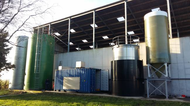 Foto planta demostrativa del proyecto DIGESMART construida en Gante (Bélgica)