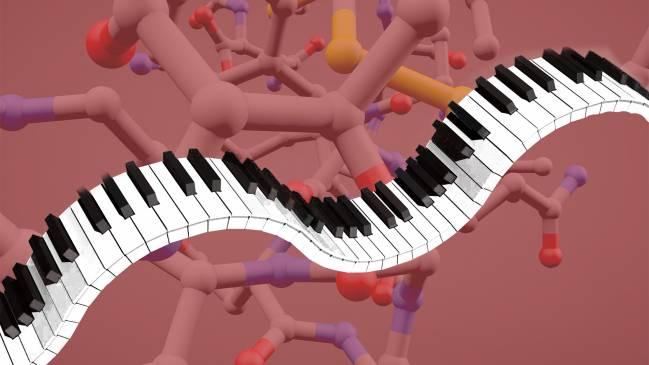 Imagen de un hipotético 'piano molecular'