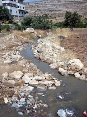 Estado actual de la zona de actuación en Territorios Palestinos.
