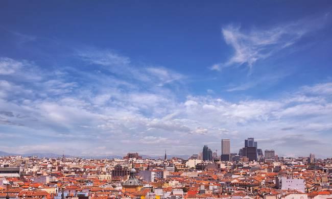 Panorámica de la ciudad de Madrid