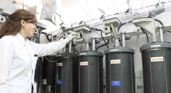 Técnico en planta piloto biogás AINIA// Foto 2:Planta de biogás agroindustrial de la Granja de San Ramón, Requena, Valencia