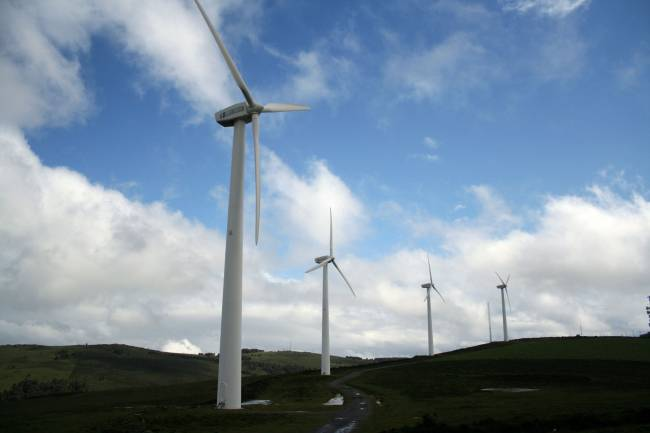 Parque eólico picu el gallo Tineo. / Wikipedia