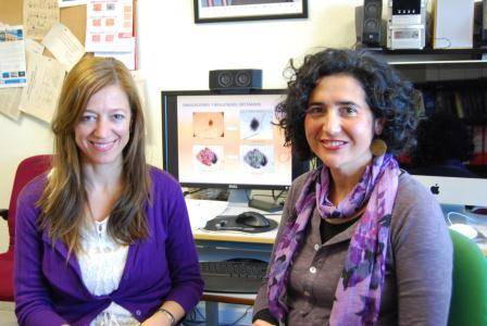 Las investigadoras Begoña Acha y Carmen Serrano