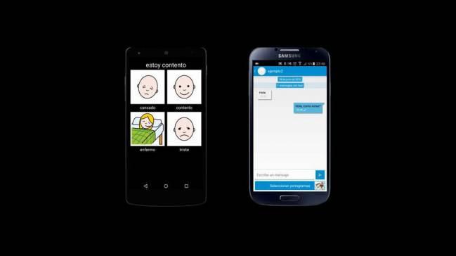 La aplicación de mensajería instantánea está basada en pictogramas. / Universidad de Vigo