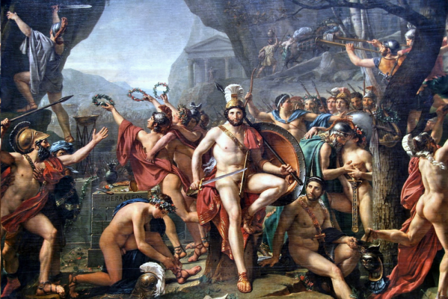Leónidas en las Termópilas, por Jacques-Louis David / Wikipedia