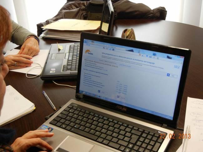 Prueba de verificación de Gades por un terapeuta del Centro de Intervención del Lenguaje. Autor: Mª Luisa Martín Ruiz.