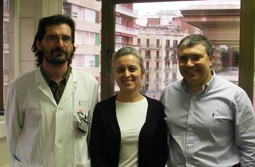 El Dr. Álvaro Cervera, la Dra. Anna Planas y el Dr. Francisco Lozano