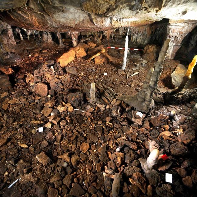 Lugar de procedencia de la estalagmita de La Garma que ha sido objeto del estudio.