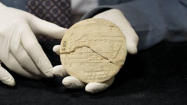 Tablilla babilónica 9Si.427 datada entre los años 1900 y1600 a.C