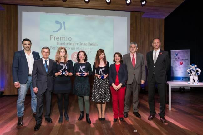 Ganadores de de la 28ª edición del Premio Boehringer Ingelheim al Periodismo en Medicina