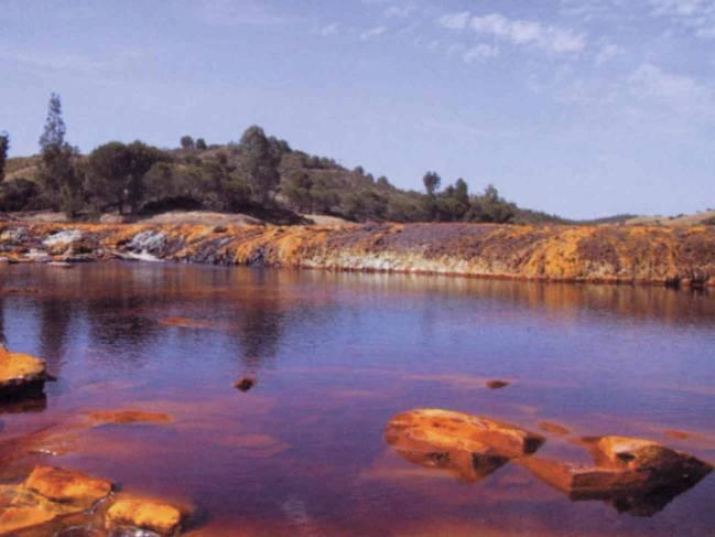 Vista del cauce del Río Tinto