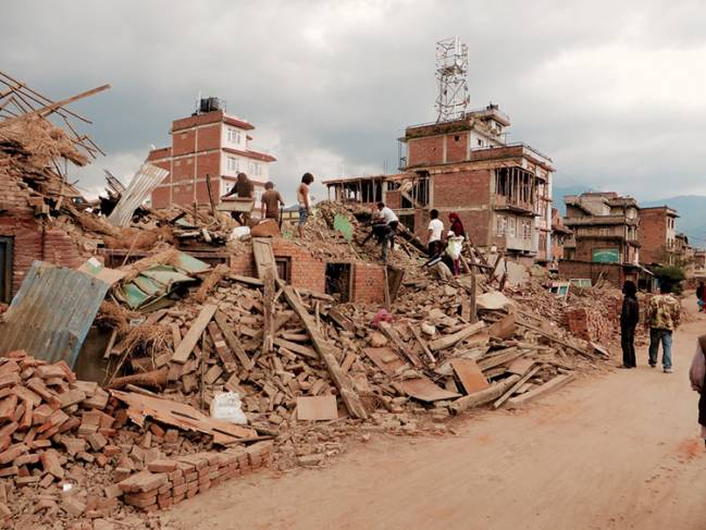 Daños causados por el terremoto en Nepal / SIM Central and South East Asia.