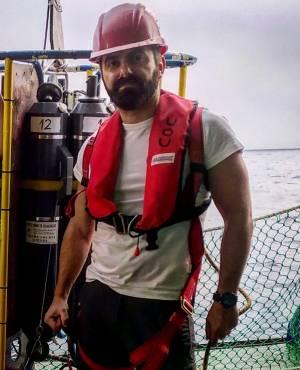 El oceanógrafo Eugenio Fraile