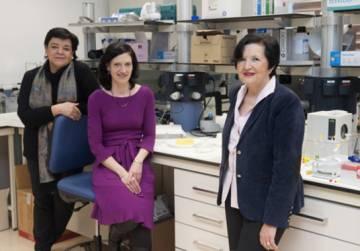 De izquierda a derecha, María Luisa Ibargoitia, Patricia Sopelana y María Dolores Guillén / Nuria González. UPV/EHU