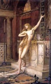 Retrato de Hipatia realizado por Charles William Mitchell en 1885.