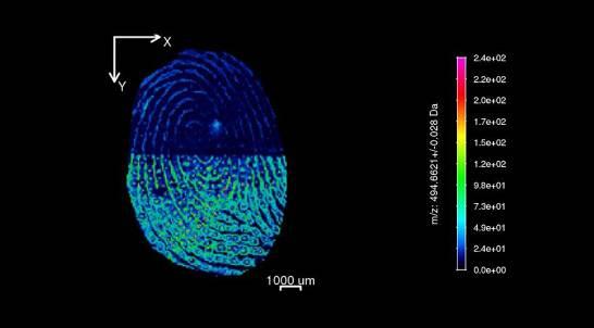 Cómo obtener el 'mapa químico' de una huella dactilar